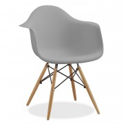 Silla TOWER WOOD ARMS - Gris claro eames daw
