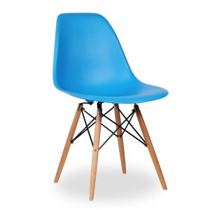 Silla Eames DSW tower Style - Turquesa - réplica de Charles & Ray Eames