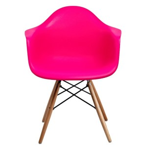 Silla TOWER WOOD ARMS - Rosa Fucsia