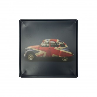 Cuadro de metal impreso vintage MY LITTLE CAR 30x30