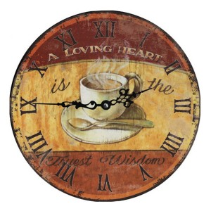 Reloj decorativo de pared LOVING HEART 34
