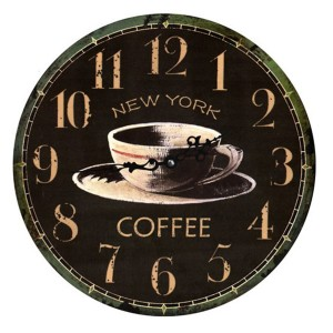 Reloj decorativo de pared NY COFFEE 34