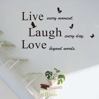 Vinilo decorativo LIVE LAUGH LOVE