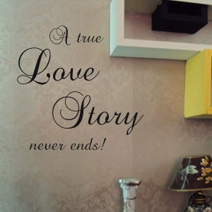 Vinilo decorativo LOVE STORY