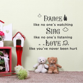 Vinilo decorativo DANCE SING LOVE