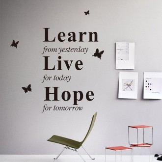 Vinilo decorativo LEARN LIVE HOPE