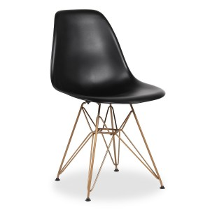 Silla TOWER METAL - GOLD MATE edition - asiento negro