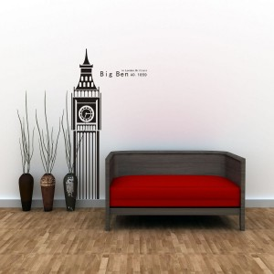 Vinilo decorativo BIG BEN - Negro