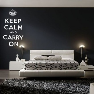 Vinilo decorativo KEEP CALM - blanco