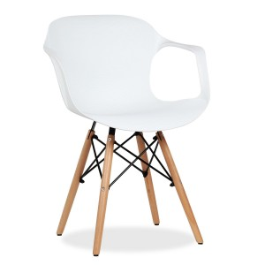 Silla TOWER WOOD ARMS ELEPHANT - Blanco - EAMES Style