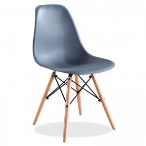 Silla TOWER WOOD - Gris oscuro - DSW Style