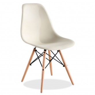 Silla Eames DSW tower Style Beige de Charles & Ray Eames