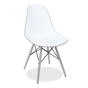 Silla TOWER WOOD DOUBLE COLOR - Blanco y gris - DSW Style