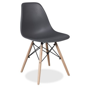 Silla TOWER WOOD - Gris Oscuro- EAMES DSW Style