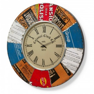 Reloj de pared ANDI - metal Multicolor