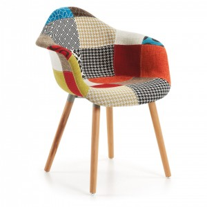 Silla TOWIE WOOD ARMS - PATCHWORK - madera de haya