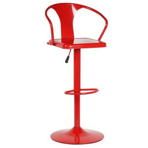 Taburete alto regulable ASMER - metal Rojo