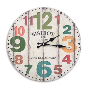 Reloj decorativo de pared BORDEAUX - madera Multicolor