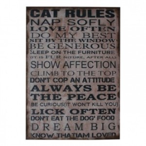Cuadro lienzo RULES OF CATS 50x70