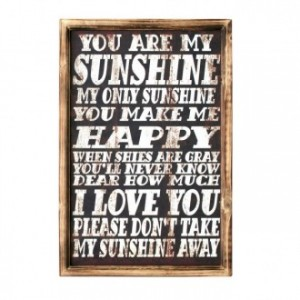 Cuadro de madera impreso YOU ARE MY SUNSHINE 40x60