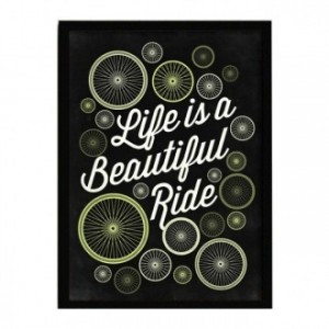 Lámina con marco LIFE IS A BEAUTIFUL RIDE 33x43