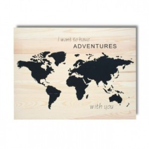 Cuadro de madera impreso ADVENTURES WITH YOU 45x60