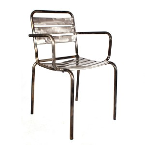 Silla con brazos JOHNNY - metal