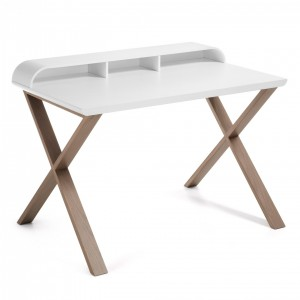 Mesa escritorio SUCCESS 120x79 - madera Roble - tablero Blanco