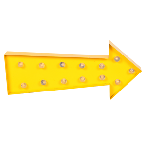 Iluminación decorativa LED ARROW COLORS - metal Amarillo