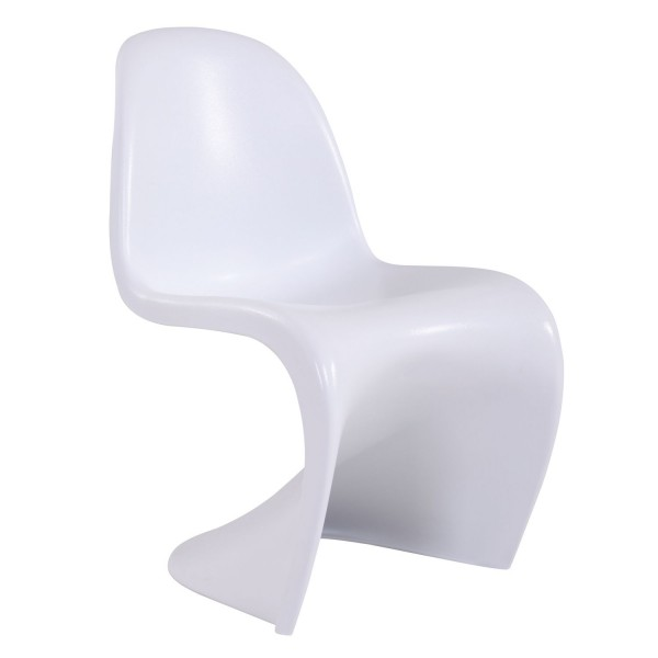 Silla de pl stico blanco verner phantom for Sillas plastico diseno
