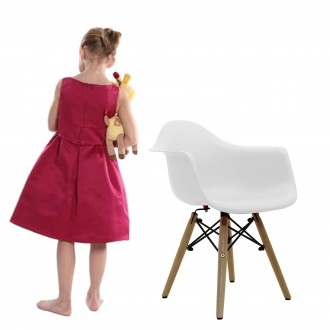 Silla BABY TOWER WOOD ARMS para niños - Blanco - DAW Style