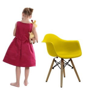 Silla BABY TOWER WOOD ARMS para niños - Amarillo - DAW Style