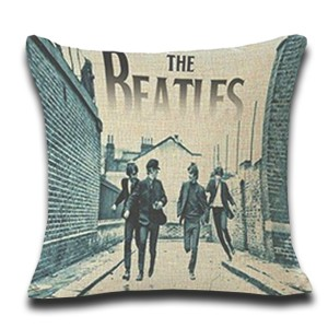 Cojín THE BEATLES RUNNING COVER algodón 45x45 con relleno