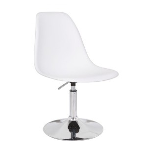 Silla TOWER elevable y giratoria - Blanca - DSW Style