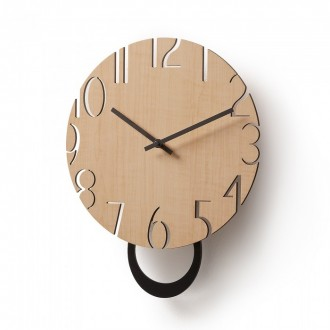 Reloj de pared CARRIE - madera Natural