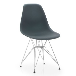 Silla TOWER METAL eames DSR plastico gris oscuro