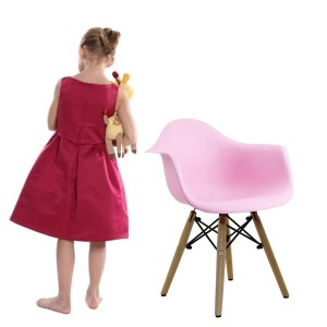 Silla BABY TOWER WOOD ARMS para niños - Rosa - DAW Style