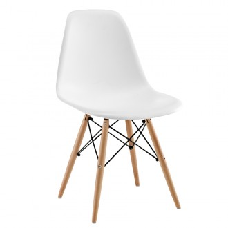 Silla Eames DSW tower Style - Blanco - réplica Charles & Ray Eames