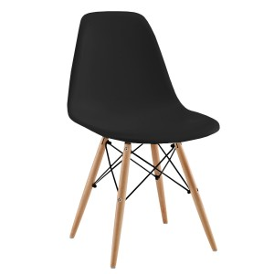 Silla TOWER WOOD - Negro - DSW Style