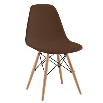 Silla TOWER WOOD - Marron- EAMES DSW Style