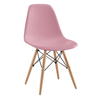 Silla TOWER WOOD - Rosa claro - DSW Style