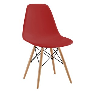 Silla Eames DSW tower Style - Rojo de Charles & Ray Eames