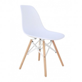 Silla TOWER WOOD - Blanco - DSW Style Edition