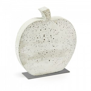 Figura decorativa KARBEN APPLE 37x40 - cemento Blanco