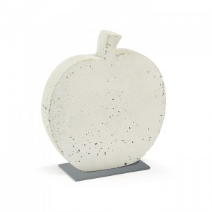 Figura decorativa KARBEN APPLE 28x30 - cemento Blanco