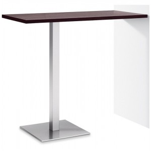 Mesa de bar para pared LIANA 112 - acero Inoxidable - tablero werzalit