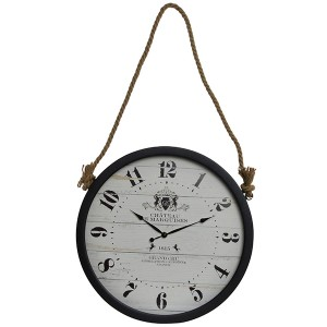 Reloj de pared CHATEAU - metal Negro