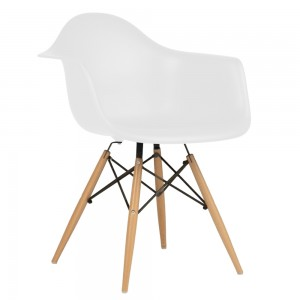 Silla TOW WOOD ARMS - Blanco