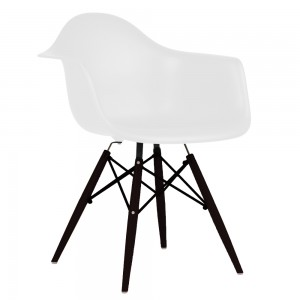 Silla TOW WOOD ARMS - Blanco - BLACK edition