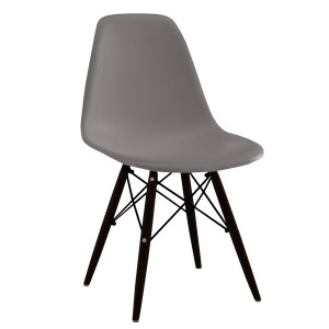 Silla TOW WOOD - Visón - BLACK edition EAMES CHAIR